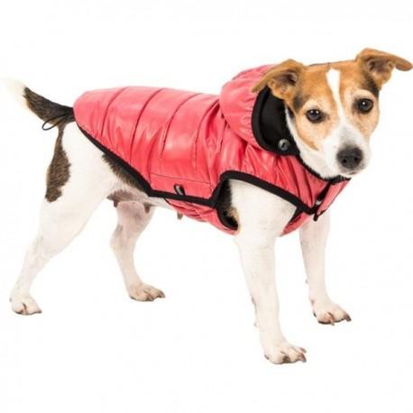 Lehká péřová bunda červená