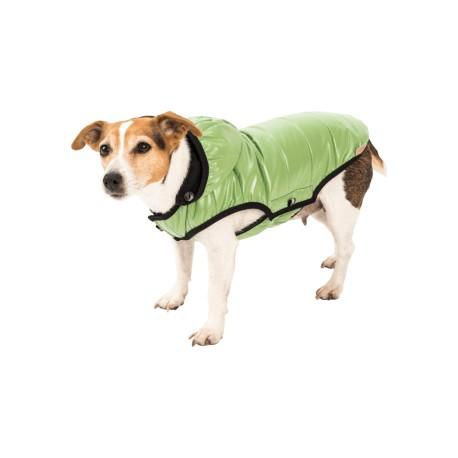 Lehká péřová bunda zelená