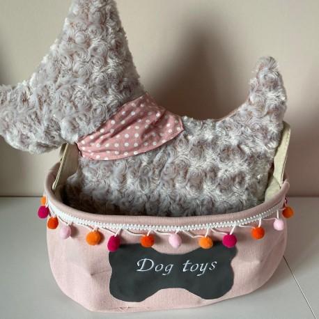 Box na hračky pro psy růžová