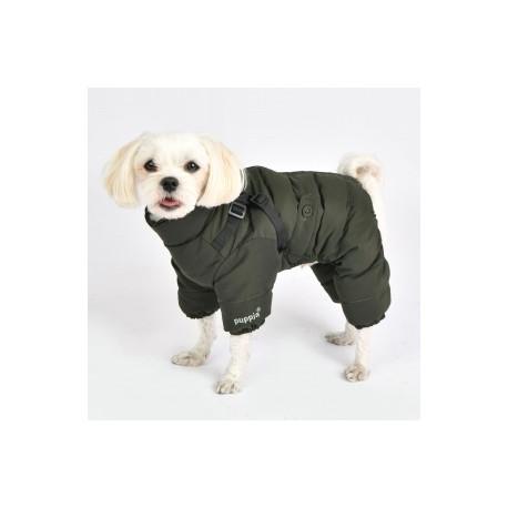 Overal pro psy khaki zelená