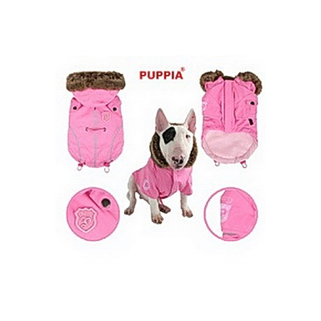 Bunda pro velké psy fargo růžová
