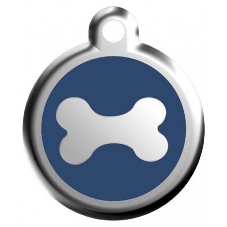 Známka malá 20 mm - Kost - Modrá - s rytím