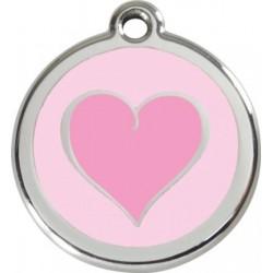 Známka - Srdce - Růžová - s rytím